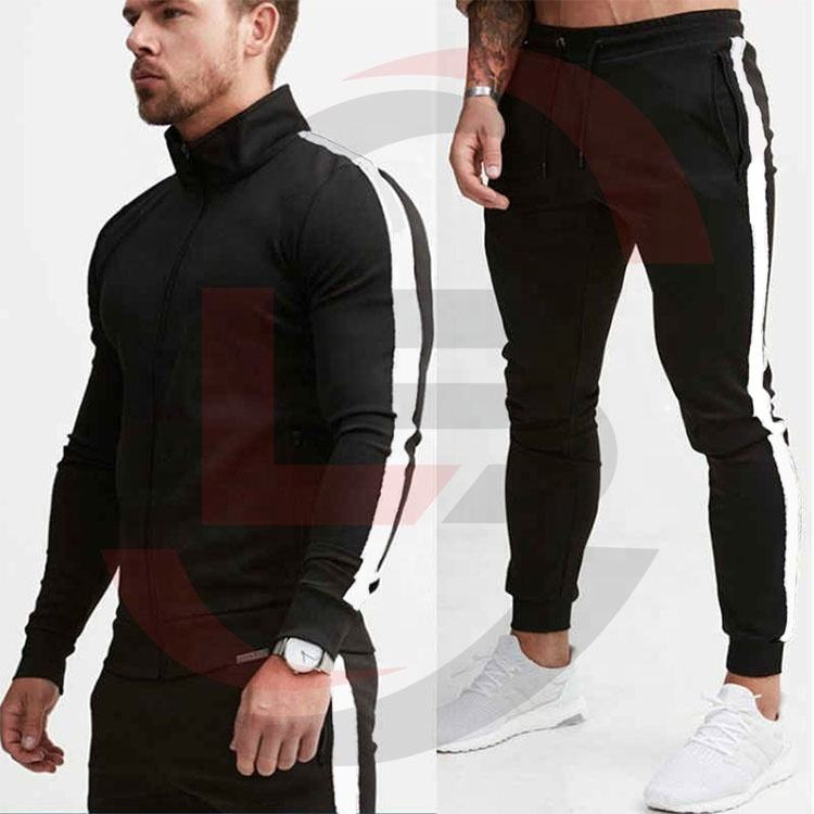 tracksuit stripe men or fitness Bodybuilding tracksuit men custom made(pay pal accepted)