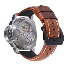China OEM Supplier Western Men Italian vintage genuine Leather Watch Band strap