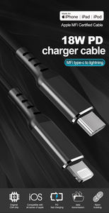 Mfi Certified Lightning Cable Usb Type C To Lightning Cable Pd 18W Fast Charging For Apple Iphone Ipad Ipod