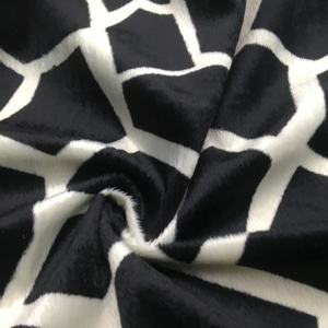 100% recycled polyester cow print velour fabric/animal print velboa