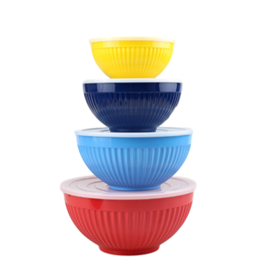 Melamine Salad Mixing Bowl With PE Lid Melamine Bowl Set