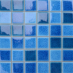 for sale decorative blue ceramic mosaic swimming pool tiles
