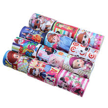 "High quality 3"" custom printed cartoon character grosgrain ribbon for cheer bows"