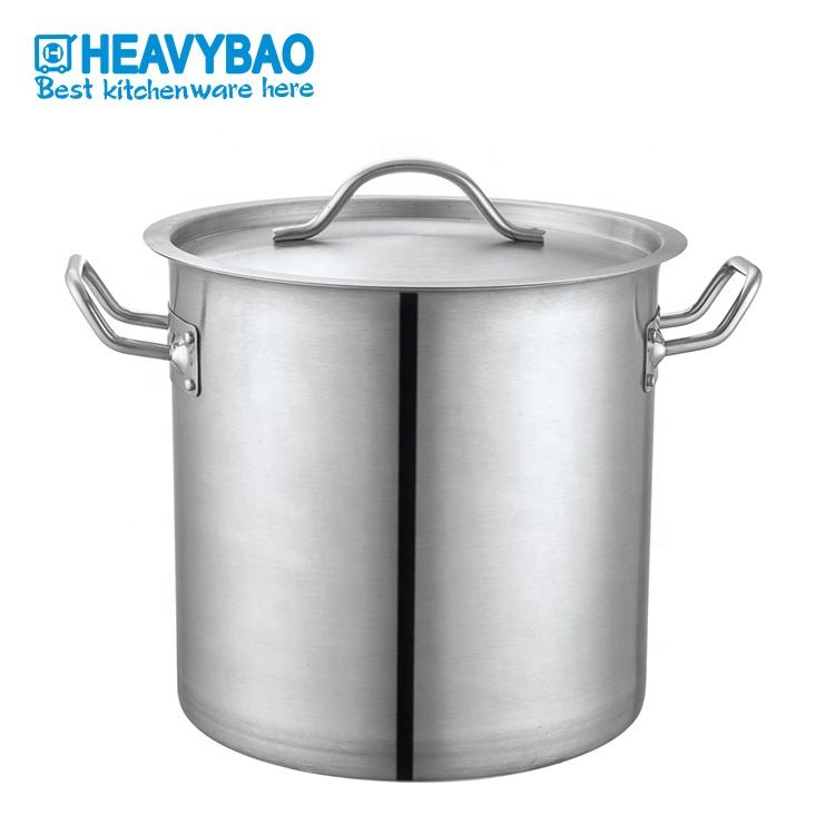 Heavybao Stainless Steel Large Commercial Cooking Pots