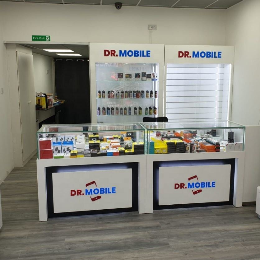 Customized Mobile Phone Kiosk Cabinets And Shop Interior Design For Smart Phone Accessories Display Stand