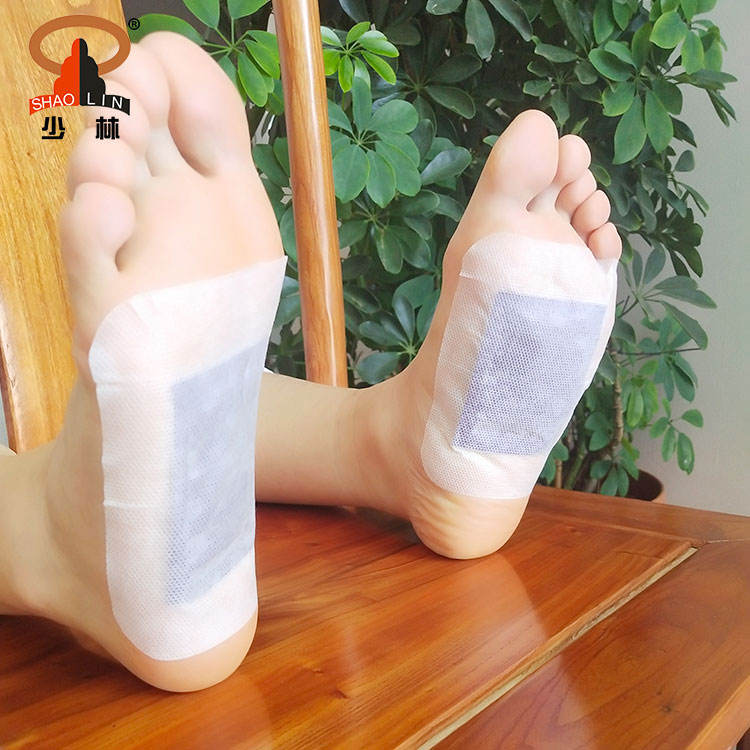 Wholesale Chinese Health Care Bamboo Wood Vinegar Extract Ginger Detox Relax Foot Patches