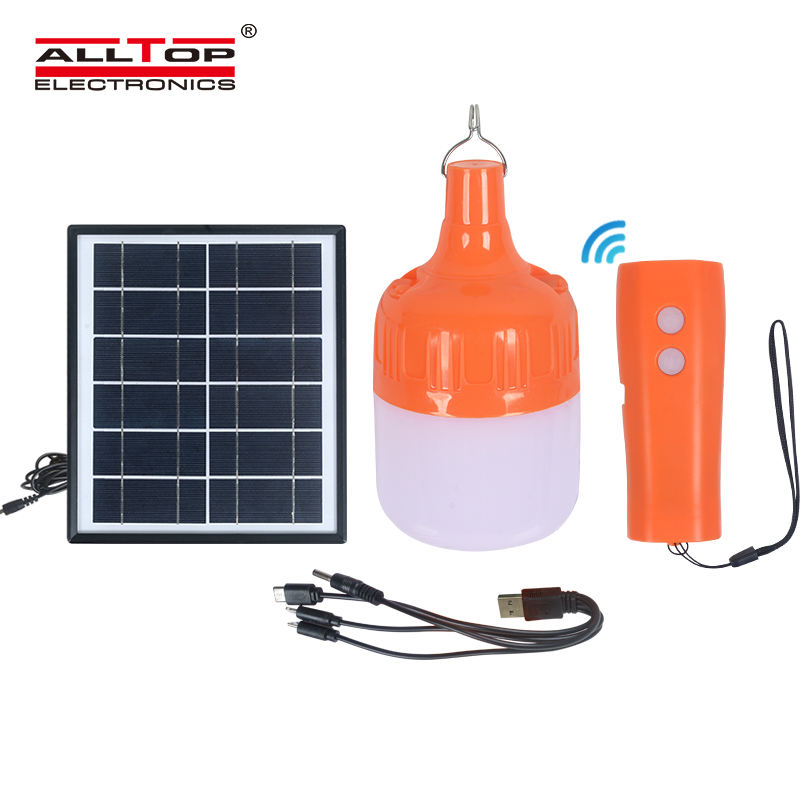 ALLTOP High quality outdoor safety lighting solar rechargeable led bulbs camping solar emergency light