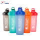 Custom logo eco friendly gym plastic portable clear protein blender shaker bottle with mixing ball