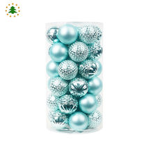 Factory sales directly colorful ball christmas decorations sets party supplies birthday
