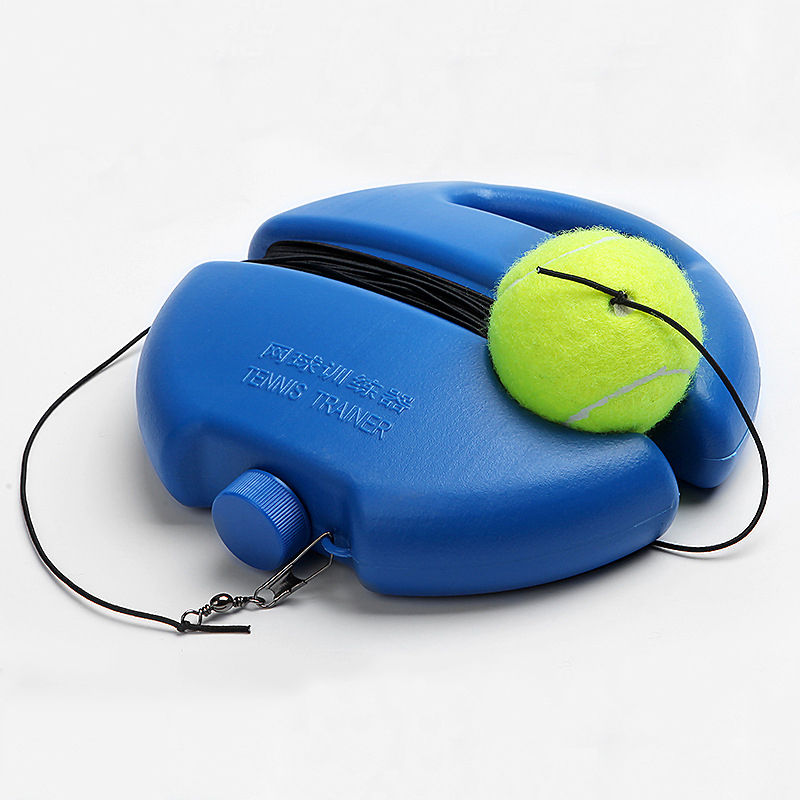 Portable Tennis Ball Training Launcher Set With Elastic String For Beginners