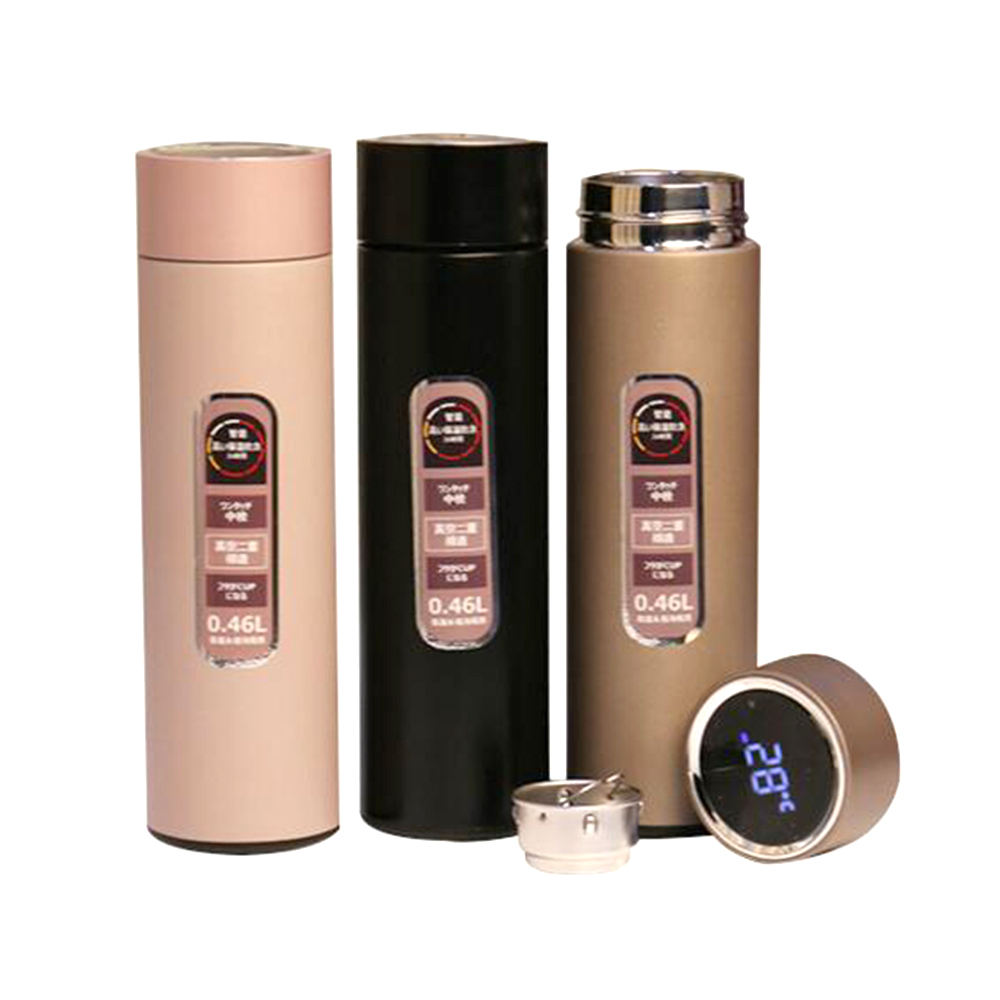 Visualizzazione della temperatura in acciaio inox Thermos con LCD Touch Screen Vuoto Intelligente di Acqua Termale Tazza LED intelligente bottiglia di Acqua