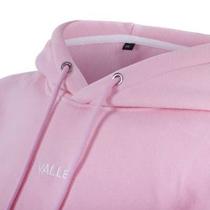 Wholesale Latest Custom Fleece Pink Embroidery Pullover Hoodies Women With Own Logo