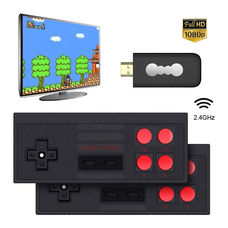 Private Model Black TV Game Player Retro Handheld MINI 568 Retro Game Console 8 Bit TV Wireless Handheld Mini Game