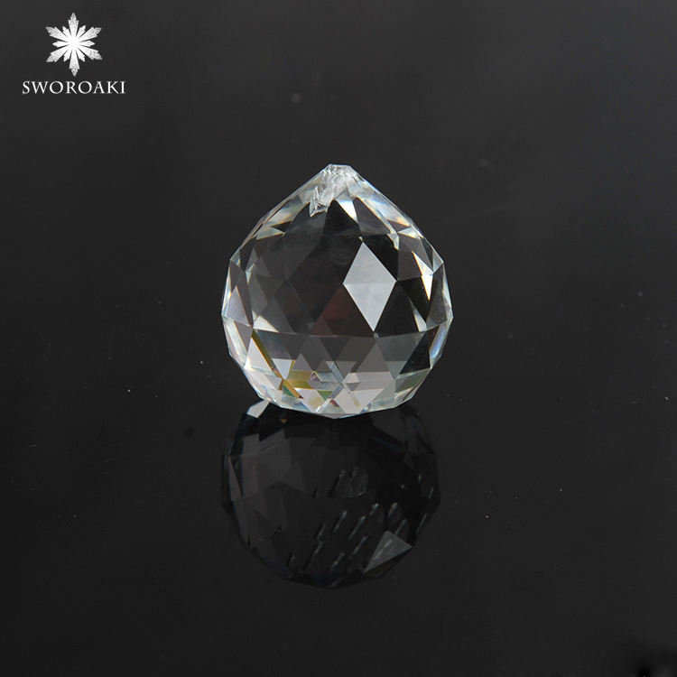 40mm crystal faceted ball/crystal chandelier ball parts for wedding fengshui products/glass crystals lamp parts hanging ball