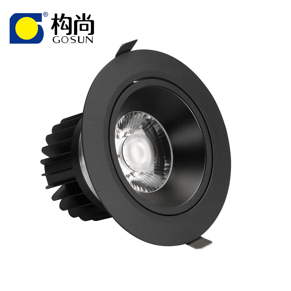 Anti glare 6W-85W CRI80/90/97 flicker free 5 years warranty 30W LED COB downlight