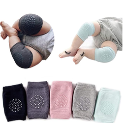 Best Sale Warm Cute Knitting Anti-Slip Safety Baby Knee Protector Pads For Crawling
