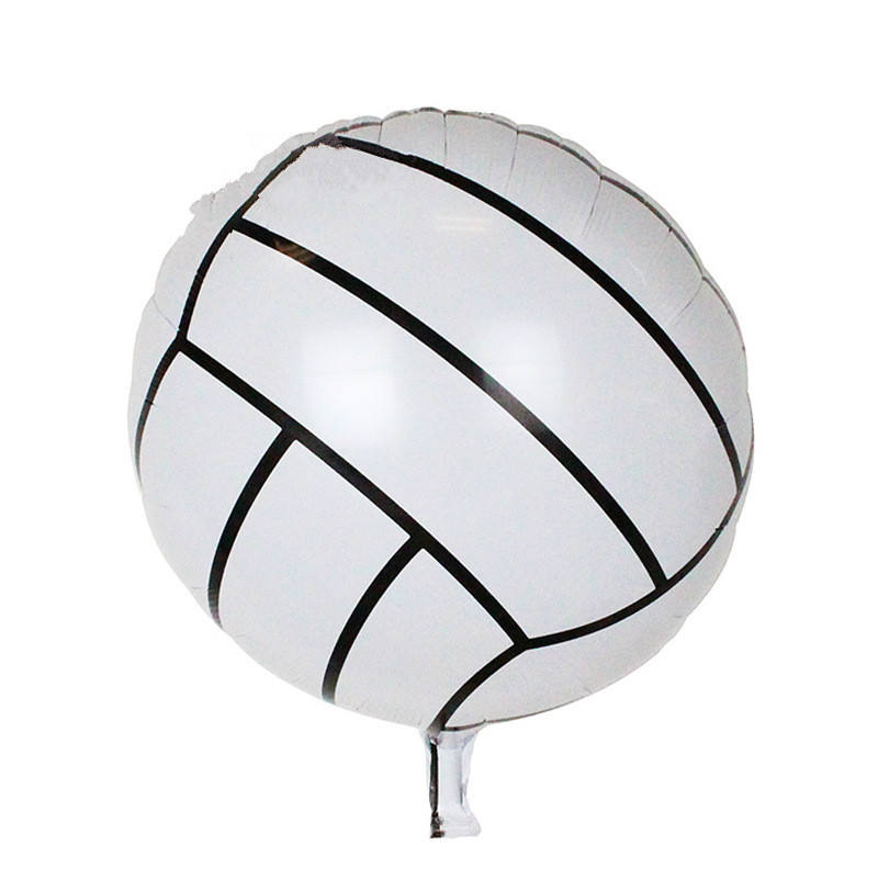 18 Inch Ronde Sport Bal Vorm Folie Ballonnen Voetbal Basketbal Volleybal Opblaasbare Lucht Ballons Kids Birthday Party Gifts