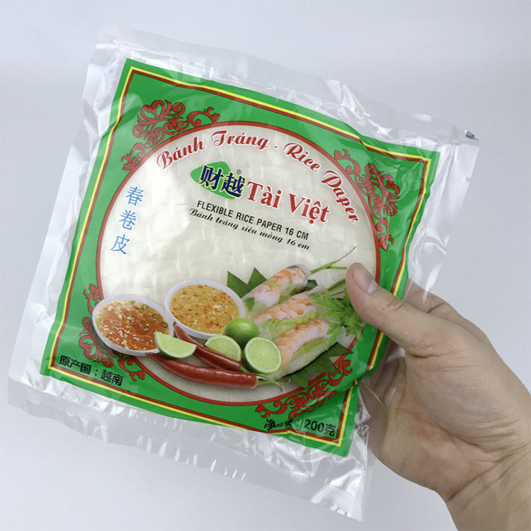 Traditional Food Bright And Fresh Flavors Vietnam Rolling Edible Rice Paper