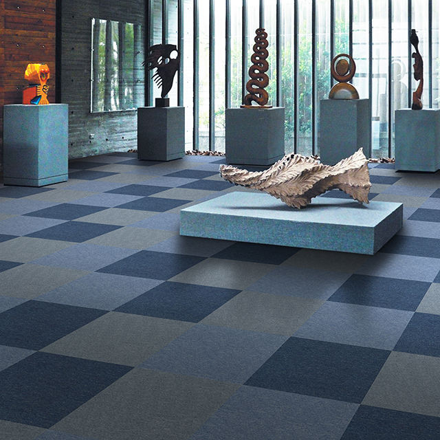 Eco-friendly Pp Plain Carpet Tiles 50x50