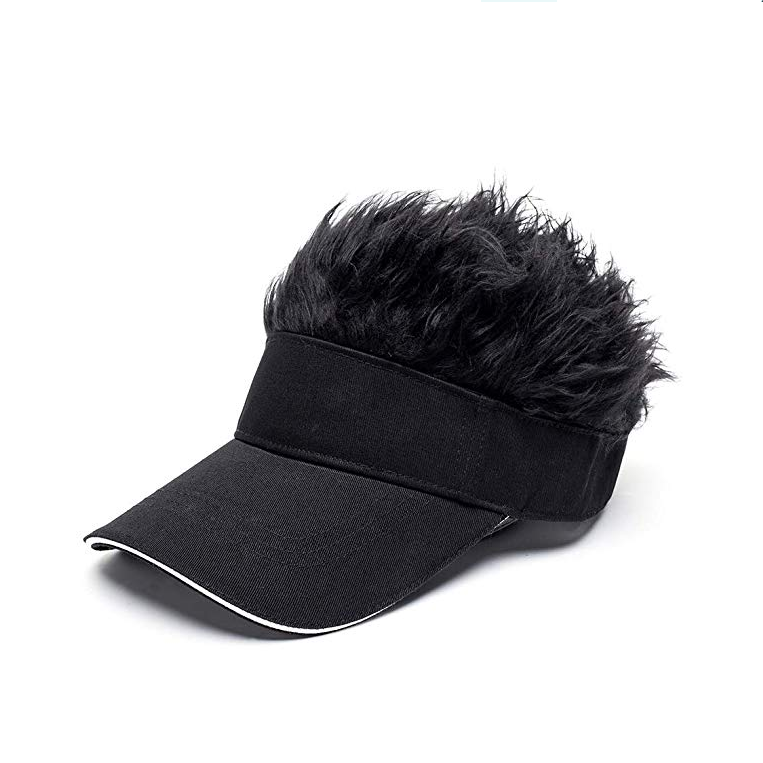 AGRADECIDO Flair Hair Sun Visor Hat Wig Peaked Cap Adjustable Baseball Hat With Spiked Hairs