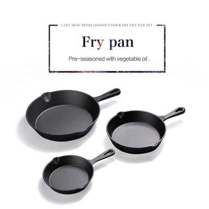 Classic Cast Iron Skillet Fry Pan Set
