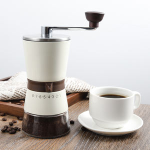 IF design award winner stainless steel burr big large custom logo colour coated manual coffee bean mill grinder