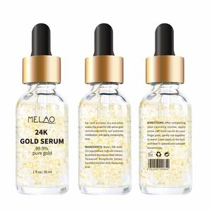 Private label 24k gold anti-aging vitamin c hyaluronsäure serum 30ml auf lager