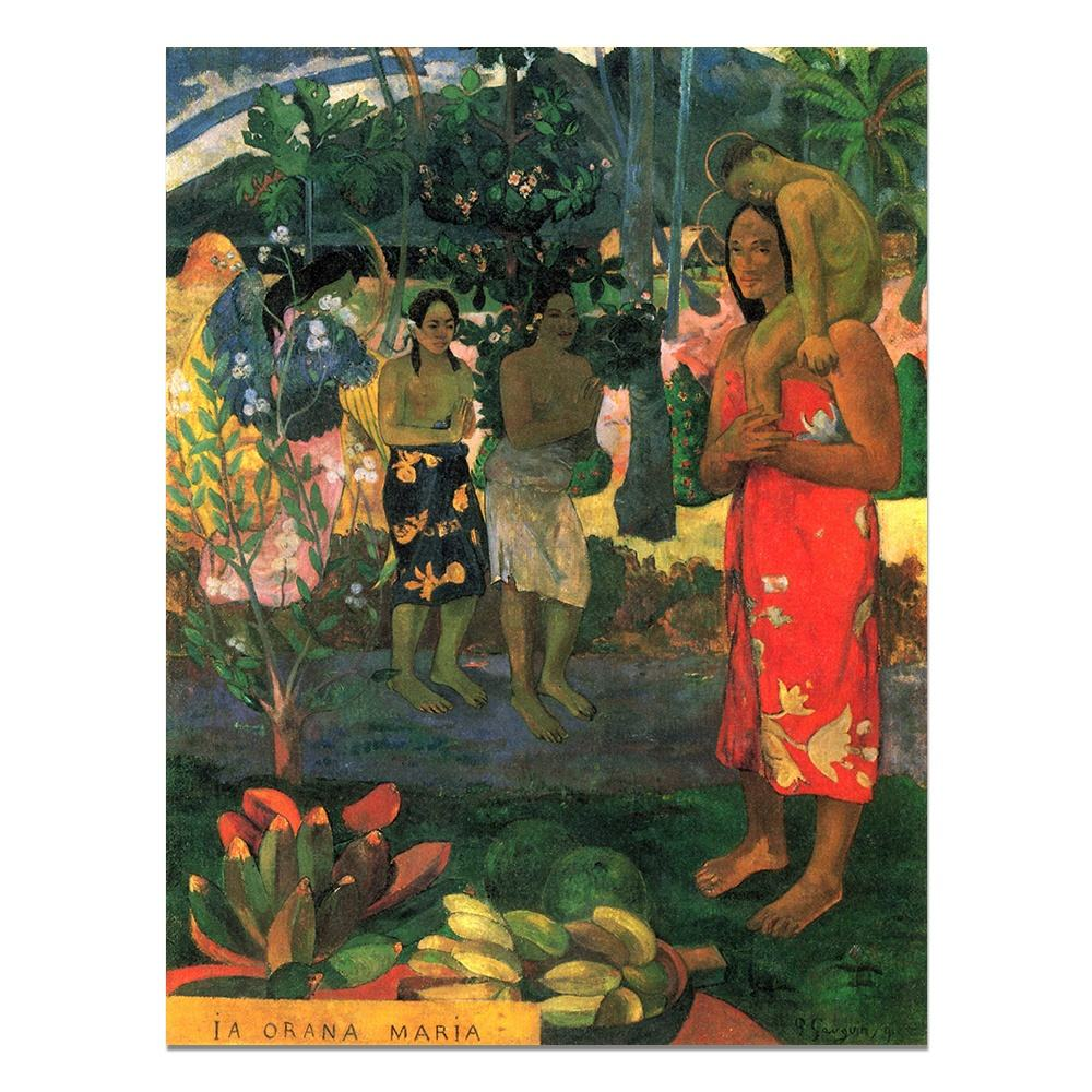 Famous Paul Gauguin Tahitian Hail Mary Impressionist Portrait Oil Painting on canvas