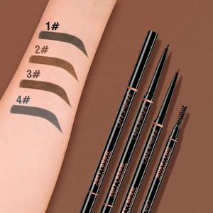 New Arrival Double Headed Automatic High Pigments Makeup Eye Brow Tattoo Pen Waterproof Longlasting Super Slim Eyebrow Pencil