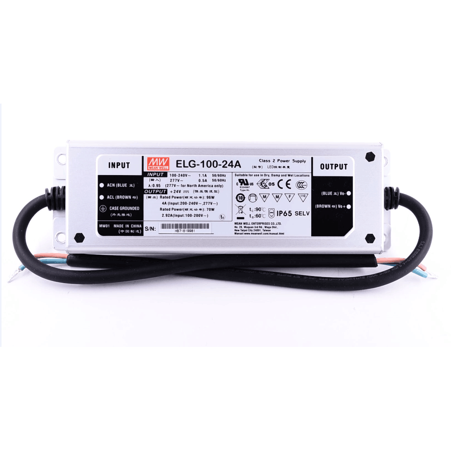 Power supply ELG-100-24A 96W Meanwell Waterproof IP65 LED Driver