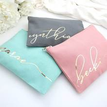 Personalized Monogram Bag Makeup Custom Cosmetic Bag Best Friend Gift Bridesmaid Gift Makeup Brush Bag