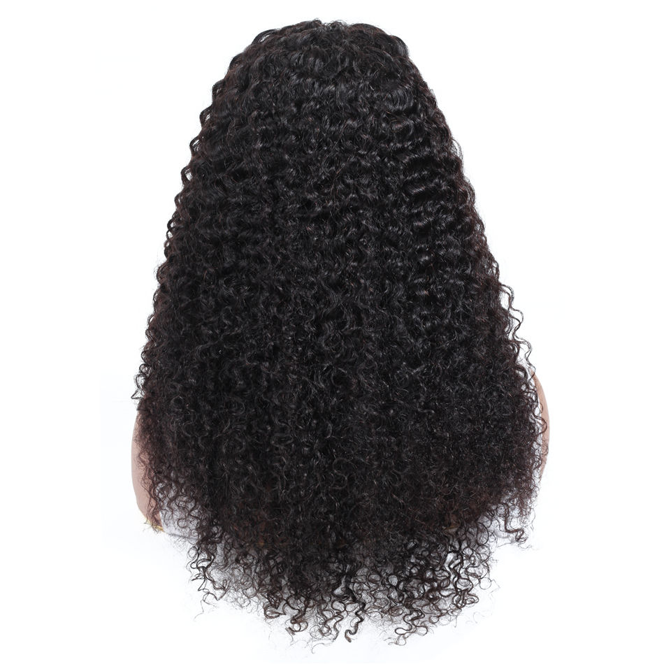 10A Grade Yeswigs Virgin Hair Peruvian Curly Wig Cuticle Aligned Swiss Lace Front Closure Peruvian Kinky Curly Human Hair Wig