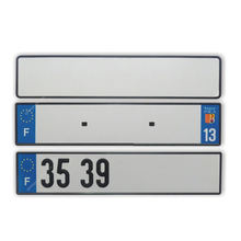 Custom France Blank Car License Plate Number Plate Reflective Film