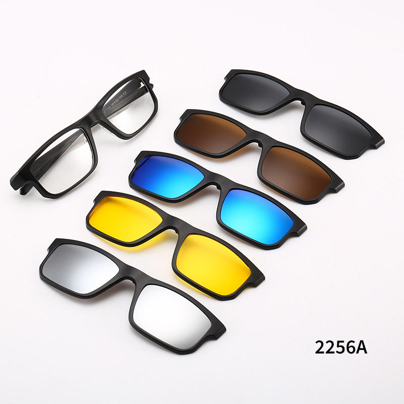 Fancy Eyewear 5 1でMagnet Eyeglasses Frames Interchange Lenses Sunglass Magnetic Polarized Clip On Glasses