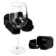 black Bathroom shower beer rack Wine glass holder Acrylic cup holder Suitable for wine, beer, coffee and beverages