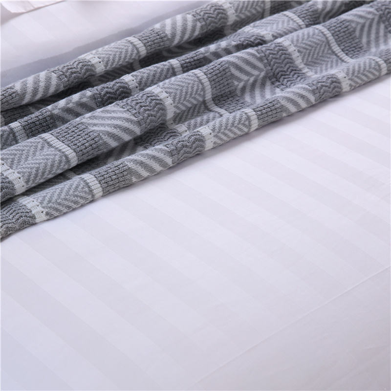 100% Cotton Fabric Factories Cotton Polyester Home Textile Fabric Sateen Stripe Fabric Cotton
