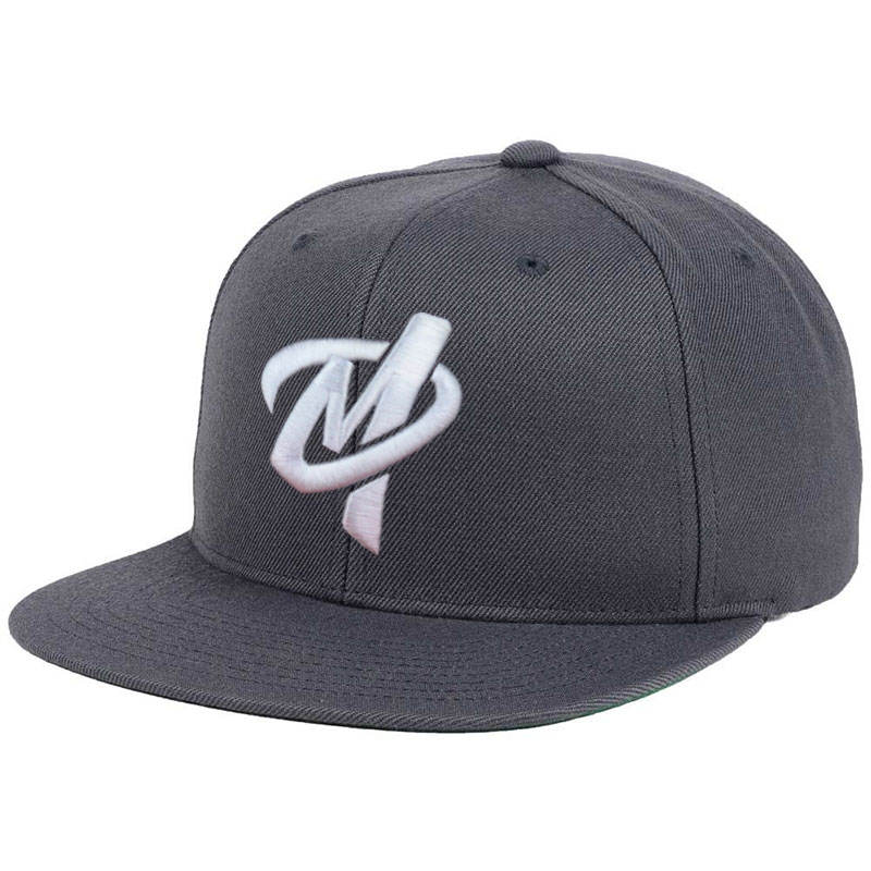 oem promotional embroidery logo crossed flat brim 6 panel snapback cap