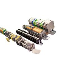 UK 2.5B U/L approved electric screw wire cable terminals, 2.5mm din rail terminal block