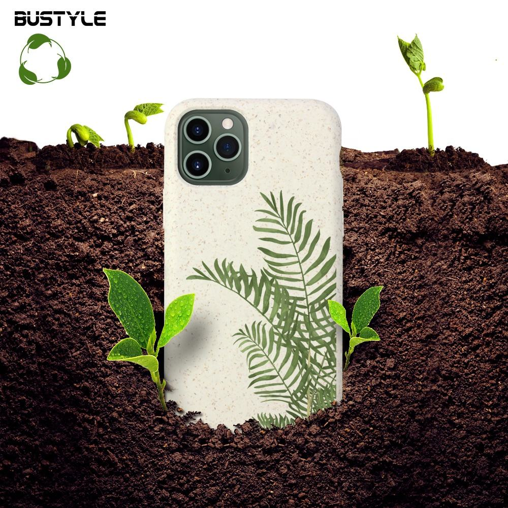 2020 100 biodegradable recycled pla pela wood fibre material fundas smart mobile phone case for iphone 6 7 8 x xr xs 11 pro max