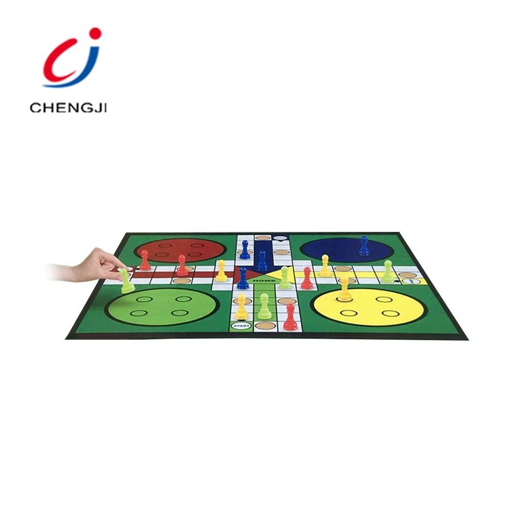 Tabletop educational chess flying cheap plastic snake and ladder game board