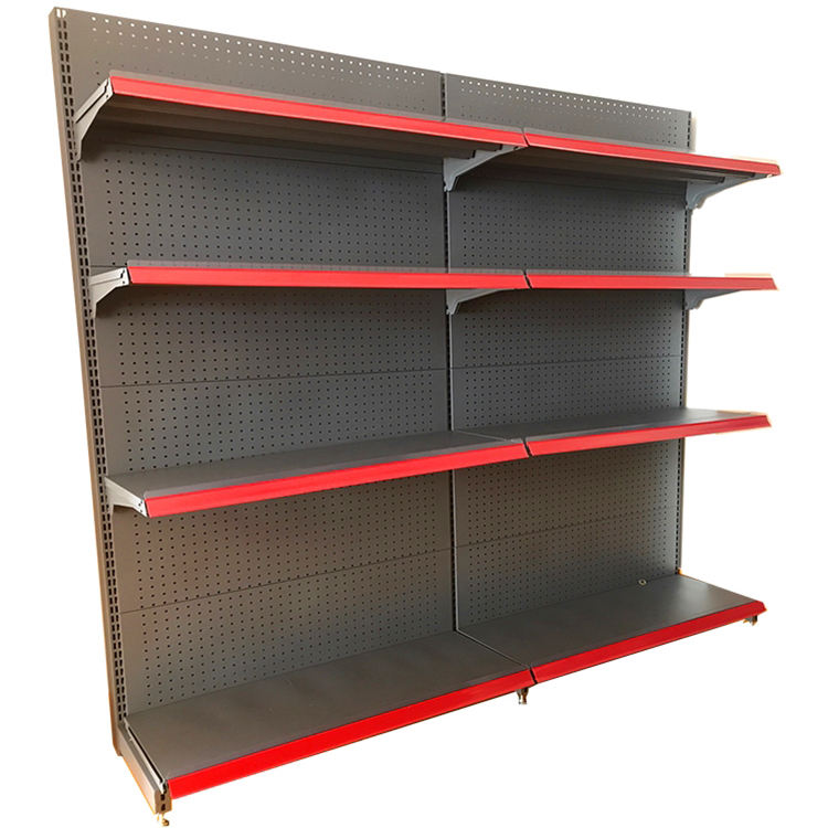 Modern Wooden Steel Supermarket Shelf Wholesale Retail Store Display Shelf For Grocery Office And Home Use/Retail Display Racks