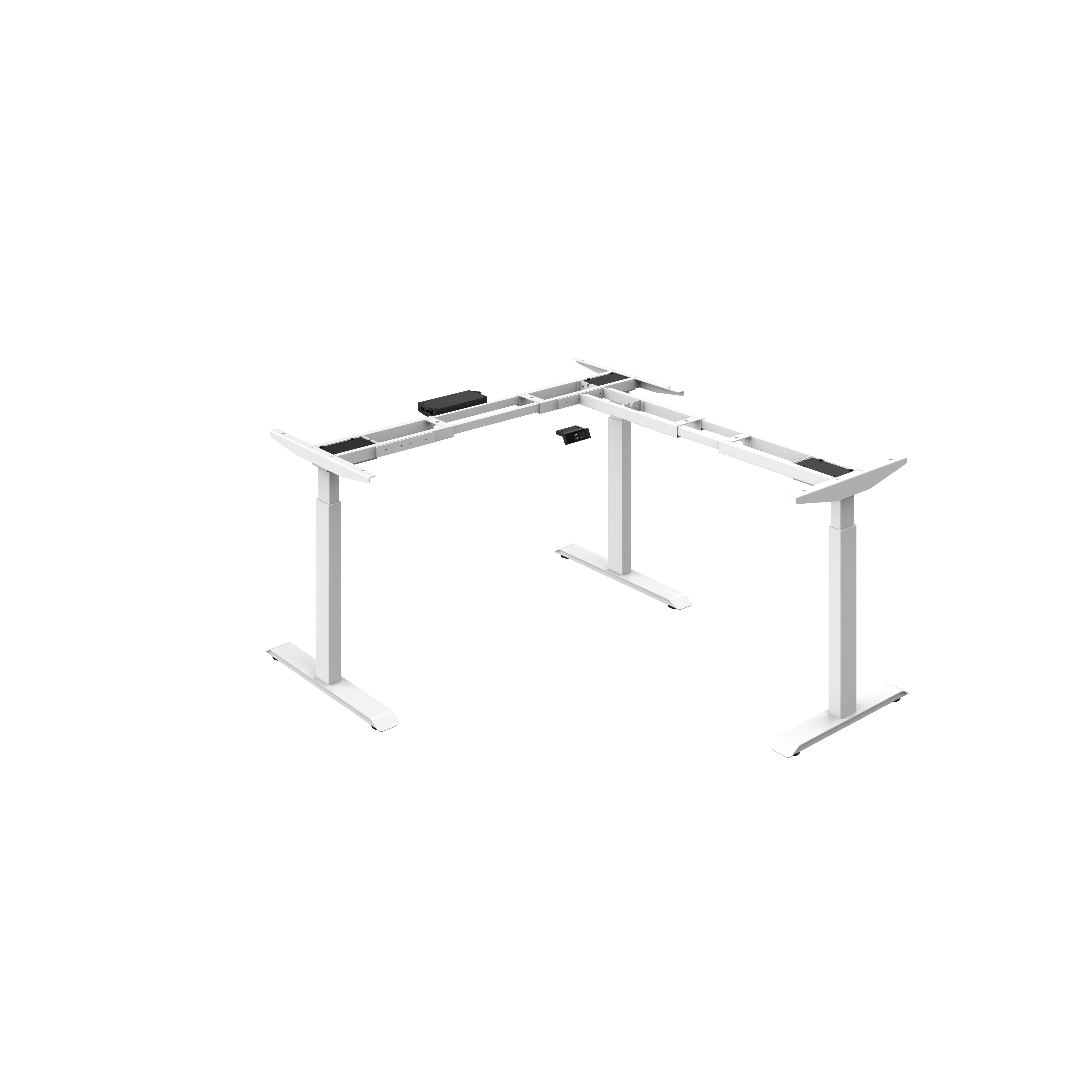 Best selling high quality L-shape Adjustable-height Standing desk base