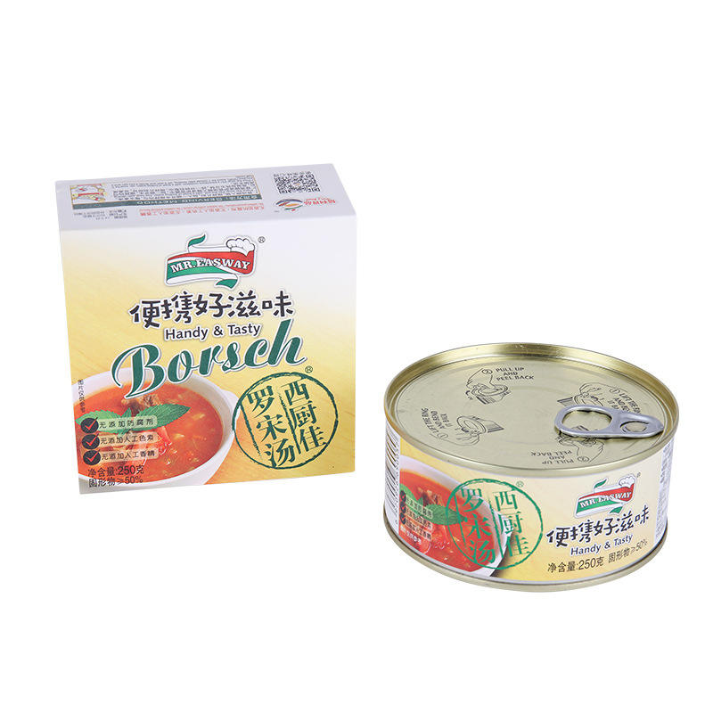 Factory direct sale 250g canned borscht and canned soup