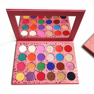 Private Label Glitter Tidak Ada Nama Eyeshadow Pallet Palet Makeup