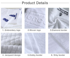 Wholesale Price Whiter 5 Star Hotel Bath Towel 100% Cotton Luxury Hotel Supplier Low MOQ