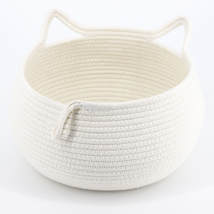 Handcraft Cotton Rope Home Decorative Fruit Basket Organizer
