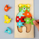 Toys Educational Toy Wooden 2020 Hot Selling New Designs Wooden 3D Puzzles Montessori Game Toys Children Wood Jigsaw Puzzle Educational Toys