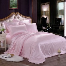 100% Pure 19mm Silk Luxury  Bedding Set for Wedding Hotel Gift Custom, Full Size