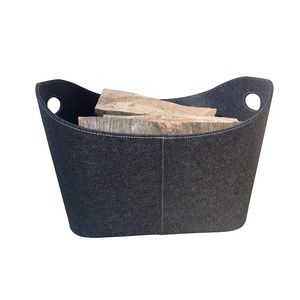 high quality OEM large capacity felt colorful gift felt storage basket with handle