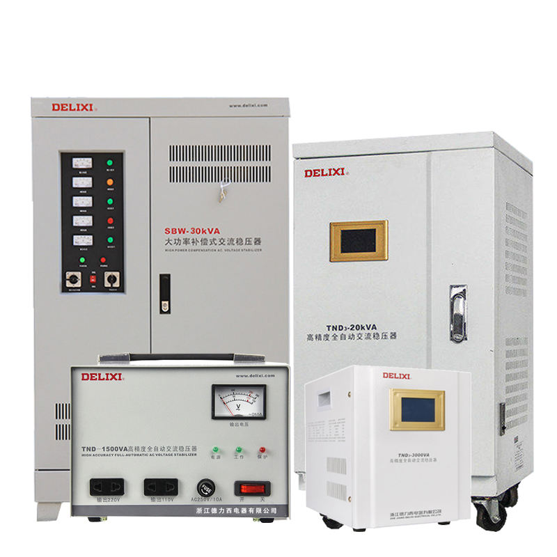 Delixi 5KVA 15KVA 20KVA Voltage Stabilizer Otomatis 20KVA Voltage Regulator